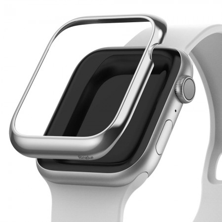 ETUI RINGKE BEZEL STYLING APPLE WATCH 4 (44MM) GLOSSY SILVER