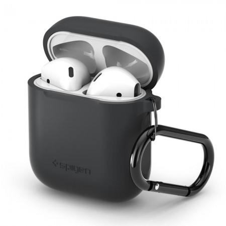 SPIGEN SILIKONOWE ETUI DO APPLE AIRPODS CHARCOAL